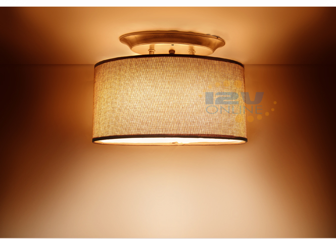 led 12v brown fabric shade dinette ceiling light rv boat hall bedroom ww brown fabric lighting
